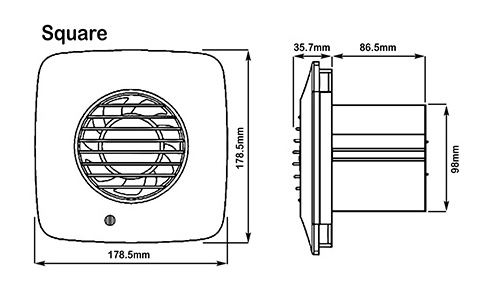 xpelair 93028aw simply silent dx100hts white square dual speed axial extractor fan with