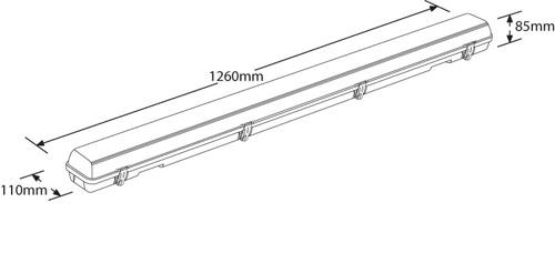 enlite en 40 linearpac white polycarbonate