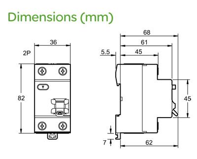 Outstanding Schneider Ez9R33263 Easy9 2 Module Double Pole Rcd 63A 30Ma Ez9R33263 Wiring 101 Orsalhahutechinfo