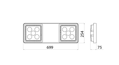 gewiss gws4042gs smart 4 2 0 hb4 4l grey industrial led. Black Bedroom Furniture Sets. Home Design Ideas
