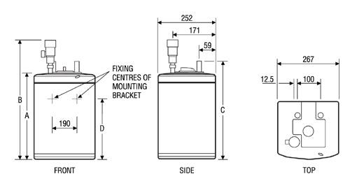 Heatrae Sadia 95.050.144 Multipoint15 White Unvented Water Heater ...