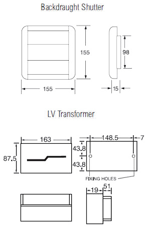 xpelair lv100t lo volt white toilet bathroom single speed low rh discount electrical co uk Basic Electrical Schematic Diagrams Residential Electrical Wiring Diagrams
