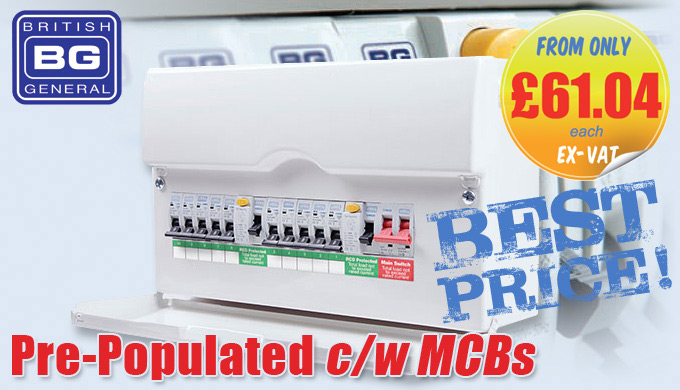 BG Electrical Pre-populated Consumer Units