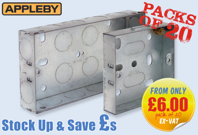 STEEL FLUSH MOUNTING BOXES - PACKS