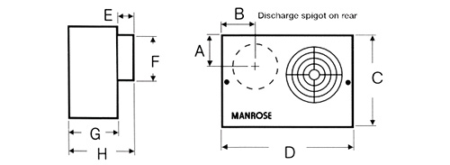 manrose cf200 white centrifugal extractor fan with timer 100mm    4 inch 240v  cf200t