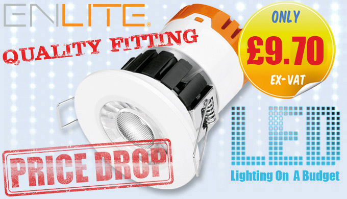 Enlite E8 Integrated Dimmable Fire Rated LED Downlights IP65