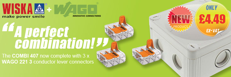 Wiska Combi Junction Boxes with Wago 221-413 Connectors