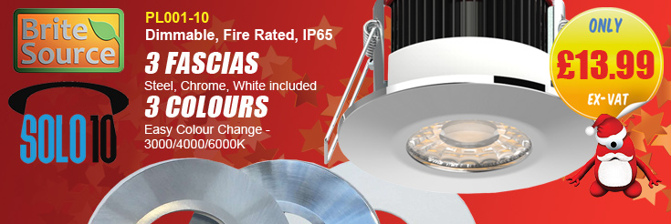 Brite Source PL001-10 SOLO10 Dimmable Colour Selectable LED Fire Rated Downlight