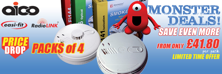 Aico EI140RC Mains Voltage Smoke & Heat Alarm PACKS