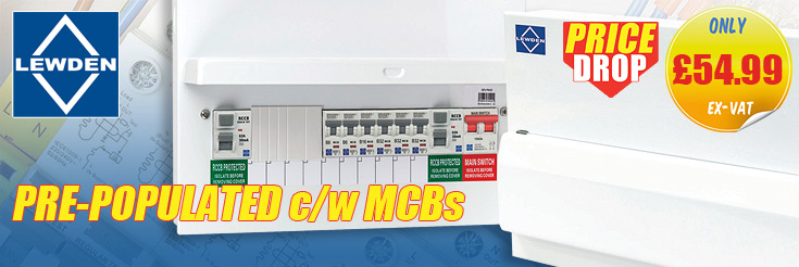 Lewden QFS-PM10 All Metal 10 Way Pre-Populated Flexible Split Load Consumer Unit