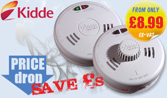 Kidde Fyrnetics Slick Smoke & Heat Alarms - OFFER