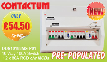 Contactum Defender PrePopulated Consumer Units