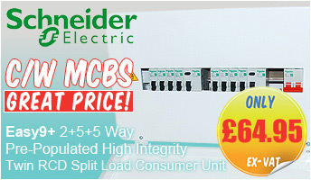 Schneider Electric EZ9ES2R5R5DMRE Easy9+ Amendment 3 All Metal 2+5+5 Way Pre-Populated