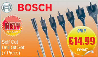 Bosch 2608587009 7-Piece Self Cut Flat Drill Bit Set