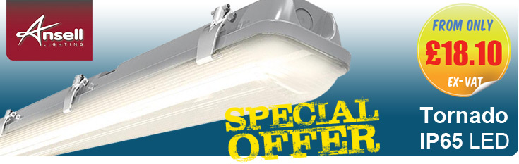 Ansell Tornado IP65 LED Corrosion Proof Luminaires - OFFER