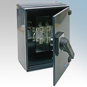 CED SF100 Grey Steel Triple Pole Three Phase TPN Switch Fuse 100A 415V