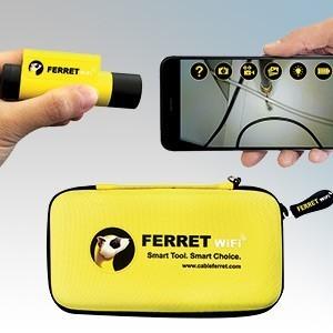 SuperRod SR-FERRET 다목적 무선 검사 카메라 및 케이블 풀링 도구 키트 (전체 액세서리 포함) IP67-전기 할인