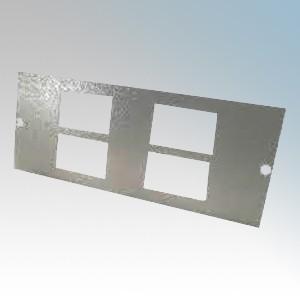 Tass STO284 4 Gang RJ45/LJ6C Plate For TFB3/76S Galvanised Floor Box L:185mm x W:89mm