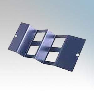 Tass STO284/W 4 Gang RJ45/LJ6C Wave Plate For TFB3/76S Galvanised Floor Box L:185mm x W:89mm