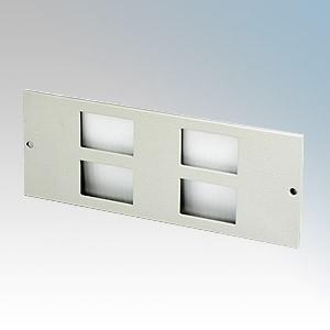 TASS STO285 4 Gang RJ45/LJ6C Plate For TFB4/76 Galvanised Floor Box L:185mm x W:68mm