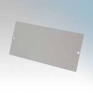 Tass STO301 Blank Plate For TFB3S Galvanised Floor Box L:185mm x W:76mm
