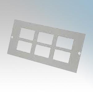 Tass STO306 6 Gang RJ45/LJ6C Plate For TFB3S Galvanised Floor Box L:185mm x W:76mm