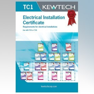 Kewtech TC1 Electrical Installation Test Certificate Pad ( Must Include TC5 or TC6 )