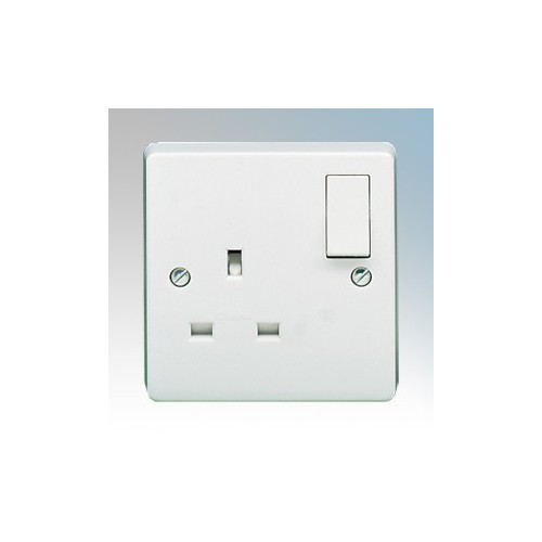 Crabtree 4304 Capital White Moulded 1 Gang Single Pole Switchsocket 13A