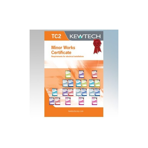 Kewtech TC2 Electrical Installation Minor Works Certificate Pad