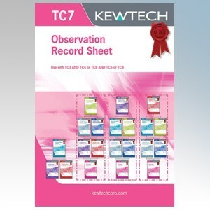 Kewtech TC7 Observation / Record Sheet Pad ( Must Include TC3 )