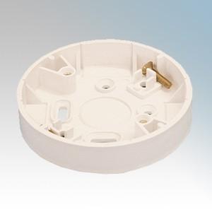 Marshall Tufflex TCR2WH White Round Ceiling Rose Adaptor For MMT1/MMT2 Mini Trunking 81mm Diameter
