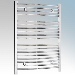 Dimplex TDTR350C Daytona Chrome Curved Ladder Design Towel Rail with 4 Wall Brackets IPX4 250W H:843mm x W:602mm x D:95-115mm