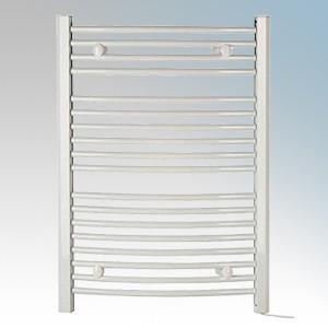 Dimplex TDTR350W Daytona White Curved Ladder Design Towel Rail with 4 Wall Brackets IPX4 350W H:843mm x W:602mm x D:95-115mm