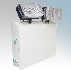 Eterna TWINSPOTNM 3 Hour Non-Maintained Emergency Twin Spot Luminaire With Lead Acid Batteries IP20 2 x 20W BA15s 12V