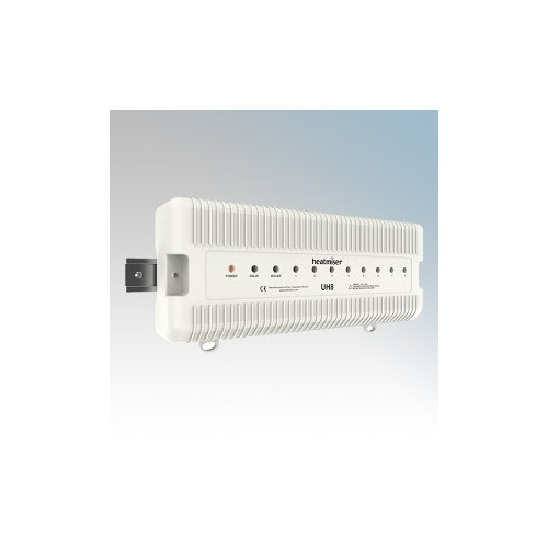 Heatmiser UH8 White 8 Zone Central Wiring Switch Box 230V
