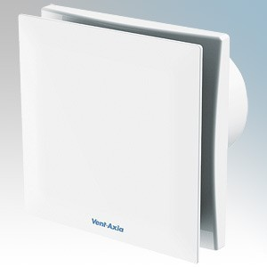 Vent Axia VASF100T White Dual Speed Silent Extractor Fan With Adjustable Timer & Backdraught Shutter 100mm / 4 Inch 240V