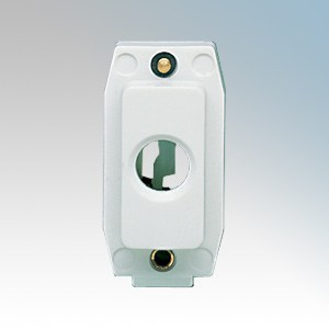 Crabtree 4435 Rockergrid White 1 Module Gridswitch Cord Outlet With Earth Terminal