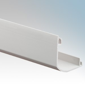 MK Electric VP115WHI Prestige 3D White Skirting Trunking Square Cover 3m Length