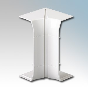 MK Electric VP191WHI Prestige 3D White 3 Compartment Skirting Trunking Flexible Internal Cover 170mm x 57mm