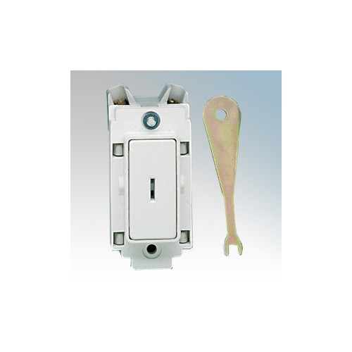 Crabtree 4451 Rockergrid 1 Way 1 Module Single Pole Grid Key Switch 20A