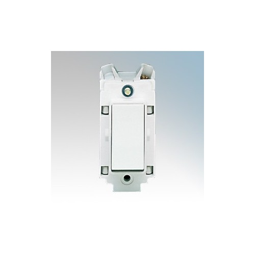 Crabtree 4460 Rockergrid White 1 Way 1 Module Double Pole Grid Switch 20A