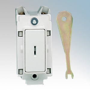 Crabtree 4461 Rockergrid 1 Way 1 Module Double Pole Grid Key Switch 20A