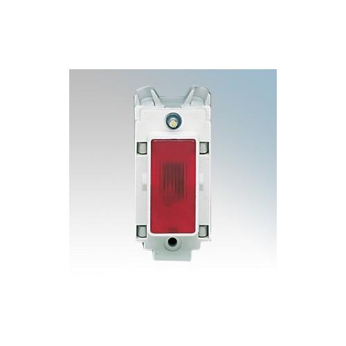 Crabtree 4491 Rockergrid White 1 Module Indicator Modular With Red Lens 240V