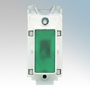 Crabtree 4493 Rockergrid White 1 Module Indicator Modular With Green Lens 240V