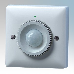 Danlers White 120° Passive Infra Red PIR Thermostat With Hidden Adjustment & 15° - 25° Thermostat Range For Cooling 240V