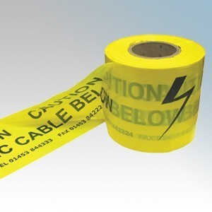 WTTAPE Underground Warning Tape Marked Danger Electrical Cable Below 150mm x 365m Reel