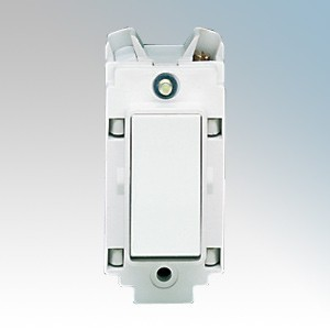 Crabtree 4553 Rockergrid White 2 Way & Off 1 Module Retractive Single Pole Grid Push Switch 10A