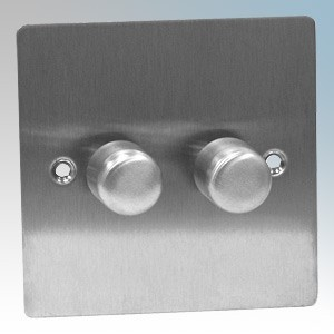 Zano ZSP122SS Stainless Steel 2 Gang Slimline LED Dimmer Switch 120W 240V