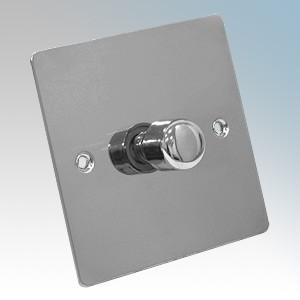 Zano ZSP251PC Polished Chrome 1 Gang Slimline LED Dimmer Switch 250W 240V