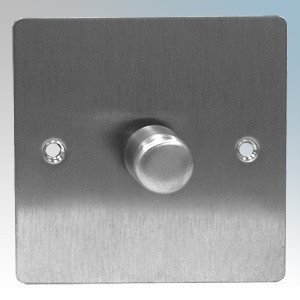 Zano ZSP251SS Stainless Steel 1 Gang Slimline LED Dimmer Switch 250W 240V